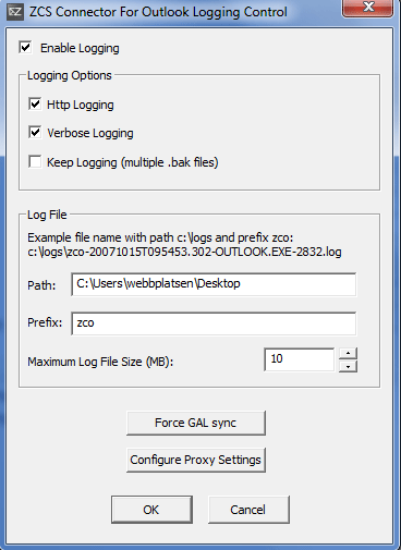 Create log file if problems occur with sync in Outlook [PRO] - Work2Go